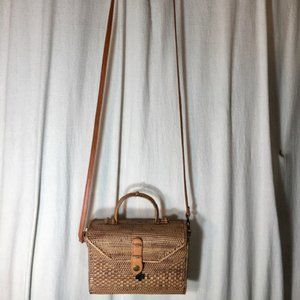Handbags - ATA Rattan Envelope Style Purse